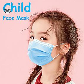 povoljno Elektronika za osobnu njegu-50 pcs Maska za lice Za jednokratnu upotrebu Protection Otporan na prašinu Nonwoven Fabric Visoka kvaliteta Djevojčice Djeca Plava
