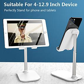abordables Samsung-soporte de teléfono de escritorio ajustable cargador inalámbrico cargador portátil plegable telescópico de metal soporte para teléfono móvil