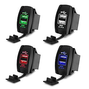 Недорогие Автомобильные зарядные устройства-5v 3.1a универсальное автомобильное зарядное устройство водонепроницаемый двойной порт usb авто адаптер пылезащитный телефон зарядное устройство для iphone xiaomi redmi samsung