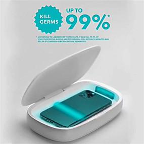 Χαμηλού Κόστους Ηλεκτρονικά για προσωπική φροντίδα-momax uv-box ασύρματη φόρτιση uv dezinfection κουτί απολυμαντικό πολυλειτουργικό κουτί απολύμανσης σκοτώνει μέχρι και 99,9% των μικροβίων συμβατό με iphone ipad iwatch ipod samsung