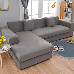 Χαμηλού Κόστους Λευκά είδη σπιτιού-απλό στερεό χρώμα ελαστικό καναπέ κάλυμμα πλήρες πακέτο ενιαίο διπλό τριών ατόμων καναπέ κάλυψη πολλαπλών χρωμάτων