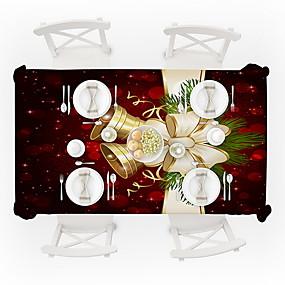 رخيصةأون شرشفات الطاولة-قماش الطاولة ألياف البوليستر مقاوم للماء كلاسيكي هندسي غطاء Tabel طاولة الزينة إلى مناسب للبس اليومي مربع 60*60 cm أسود 1 pcs