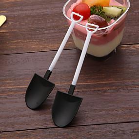 Χαμηλού Κόστους Κουζίνα και τραπεζαρία-100pcs μιας χρήσης παγωτό κουτάλι κουτάλι σέσουλα μεμονωμένα συσκευασμένα