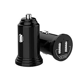 Недорогие Автомобильные зарядные устройства-мини универсальное двойное автомобильное зарядное устройство USB для телефона Dual USB автомобильное зарядное устройство 3.4a быстрое зарядное устройство для iphone 7 8 x Xiaomi автомобильное зарядное