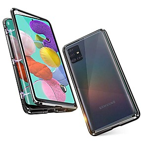 cheap Samsung-Magnetic Case For Samsung Galaxy A51 / M40S / A71 Shockproof / Water Resistant / Transparent Tempered Glass / Metal Case For Samsung Galaxy S20 Plus / Note 10 Plus / S10 Plus / A30 /A40 / S20 Ultra