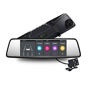 Недорогие Видеорегистраторы для авто-V8 с сенсорным экраном 7 дюймов зеркало заднего вида вождение рекордер двойной вид сзади android навигация рекордер 1080p HD автомобильный видеорегистратор широкоугольный 170 градусов cmos