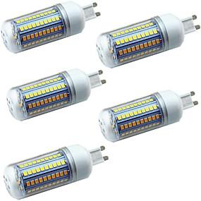 ieftine Becuri LED Bi-pin-5pcs 5 W Becuri LED Corn Becuri LED Bi-pin 600 lm E14 G9 GU10 T 102 LED-uri de margele SMD 2835 Decorativ Alb Cald Alb 220-240 V