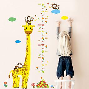 ieftine Acțibilde de Decorațiuni-copii înălțime grafic autocolant de perete decor desen animat girafă maimuță riglă înălțime autocolante de perete casă decorare cameră poster art autocolant