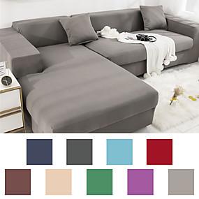 povoljno Tekstil za dom-kućni osnovni čvrsti, otporni na prašinu, svemoćni navlake u obliku kauča, presvlaka za kauč, super kauč od presvlake od tkanine s jednom besplatnom jastučnicom