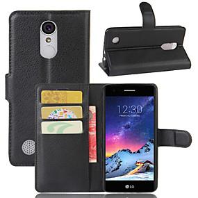 povoljno LG-Θήκη Za LG LG Q Stylus / LG X venture / LG X Style Novčanik / Utor za kartice / Zaokret Korice Jednobojni PU koža / TPU