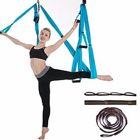 baratos Exercício e Fitness-Conjunto de balanço de ioga aérea Kit de rede / estilingue para ioga Correias de extensão Esportes Náilon Aereo Yoga Exercícios de Inversão Fitness Anti-Gravidade Ultra Forte Durável antidesgaste