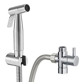 povoljno Slavine-premium platnena pelena prskalica od nehrđajućeg čelika - ručni wc bide od nehrđajućeg čelika&toaletna prskalica, ručni nosač za propuštanje