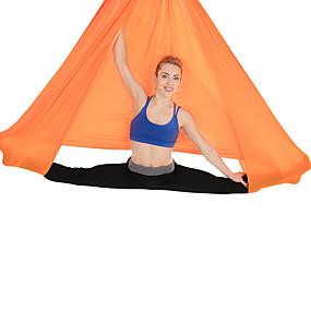 baratos Exercício e Fitness-Rede de ioga aérea Tecido de seda de rede aérea de ioga de balanço de vôo Esportes Náilon Chinês Exercícios de Inversão Trapézio de ioga antigravitante Balanço Sensorial Anti-Gravidade Ultra Forte