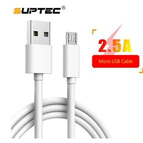 Недорогие Android-Suptec 3m Micro USB-кабель для Sony LG Huawei Xiaomi Redmi Samsung A7 зарядное устройство для Android-телефон кабель-шнур быстрой зарядки4.9