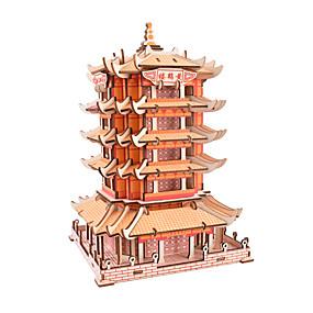 povoljno Igračke i razonoda-3D puzzle Puzzle Drvene puzzle Poznata zgrada Kineska arhitektura Uradi sam simuliranje Interakcija roditelja i djece drven Kineski stil Dječji Odrasli Uniseks Dječaci Djevojčice Igračke za kućne