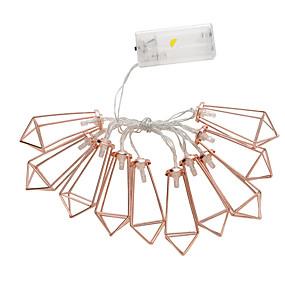 ieftine Fâșii Becurie LED-trandafiri de aur cu diamante lumini cu baterii intermitente lumini cu șnur lumini decorațiuni exterioare șiruri picătură de apă
