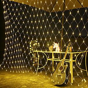 povoljno LED svjetla u traci-1.5m * 1.5m led svjetla ac 220v vjenčanje ukras Božićni vila fleksibilni string svjetlo vanjski praznik festival multi vanjski vrt ukras svjetiljka