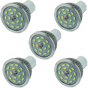 ieftine Spoturi LED-5pcs 5 W Spoturi LED 400 lm GU10 15 LED-uri de margele SMD 5730 Intensitate Luminoasă Reglabilă Alb Cald Alb 220-240 V