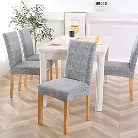 Χαμηλού Κόστους Λευκά είδη σπιτιού-κάλυμμα καρέκλας τραπεζαρία καρέκλα κουβέρτα τεντωμένο έπιπλα προστατευτικά καλύμματα αφαιρούμενα πλένονται ελαστική θήκη καθισμάτων για την τελετή του εστιατορίου
