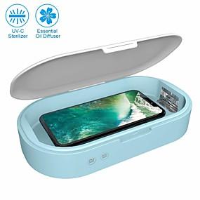 Χαμηλού Κόστους Ηλεκτρονικά για προσωπική φροντίδα-έξυπνη απολυμαντικό τηλέφωνο φορητή φώτα uv φώτα κινητό τηλέφωνο απολυμαντικό αποστειρωτή καθαρότερη λειτουργία αρωματοθεραπείας απολυμαντικό για όλα τα iphone android cellphone οδοντόβουρτσα