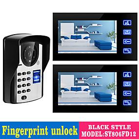 povoljno Video portafoni-ožičeni 7 inčni hands-free 800 * 480 piksela jedan do dva video domofona