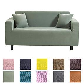 tanie Tekstylia domowe-pokrycie sofy pokrycie sofy ochraniacz mebli jednolity kolor miękka rozciągliwa sofa narzuta super rozkładana okładka nadająca się do fotela / fotela / trzyosobowego / czteroosobowego / kanapa w kszta