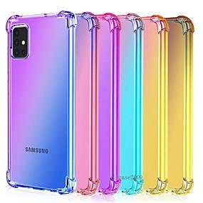 abordables Compra por modelo de teléfono-samsung galaxys20 ultra plus s10 s10e s9 s8 plus funda para teléfono a prueba de golpes note 10 plus pro note 9 8 gradiente tpu airbag funda protectora