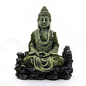 preiswerte Haustierzubehör-Aquarium Ornament Harz alten Imitation Buddha Statue ruiniert Aquarium Dekor