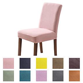 tanie Tekstylia domowe-pokrowiec na krzesło jadalnia krzesło narzuta super fit stretch zdejmowany zmywalny krótki jadalnia krzesło protector pokrycie narzuta siedzenia na hotel / jadalnia / ceremonia / bankiet wesele