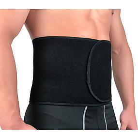 baratos Exercício e Fitness-Tala para Costas Suporte de costas / cinto de apoio lombar Cinto Lombar Para Musculação/ Sauna Belt para Fitness Treino de Ginástica Ajustável Compressão Respirável Queimador de gordura da barriga