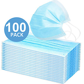 cheap Face Mask-In Stock 100PCS 3-layer Disposable Masks Safe Breathable Mouth CE Certified Face Mask Disposable Ear loop Face for Personal Protection+Free Shipping for 4 boxes (50 pieces per box)
