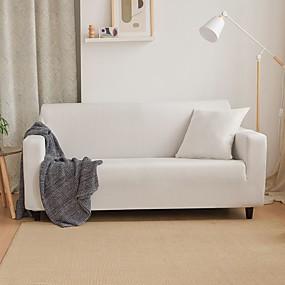 povoljno Dom i vrt-nordijski jednostavni jednobojni kauč na prekrivaču u boji puni paket jednokrevetni kauč za trostruku osobu bijeli