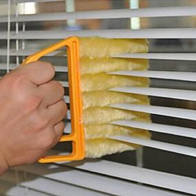 abordables Cuisine & Ustensiles-utile microfibre brosse de nettoyage de vitres brosse aveugle climatiseur duster nettoyant avec chiffon de nettoyage lavable store vénitien