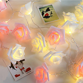 povoljno LED svjetla u traci-1m vijenac s umjetnim cvijećem buket žica za svjetla pjenaste ruže vilinske svjetiljke za vjenčanje ukrasa za Valentinovo