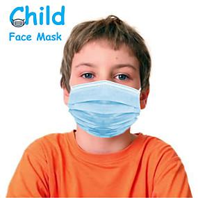 povoljno Elektronika za osobnu njegu-50 pcs Maska za lice Prijenosno Za jednokratnu upotrebu Protection Otporan na prašinu Nonwoven Fabric CE FDA ISO Certifikat Visoka kvaliteta Djevojčice Djeca Plava