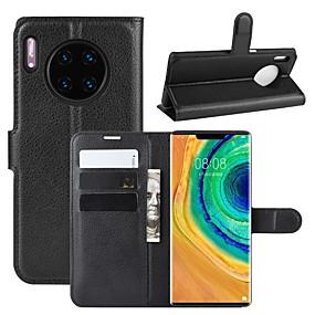 Недорогие Чехлы и кейсы для Huawei Mate-Кейс для Назначение Huawei Mate 10 / Mate 10 pro / Mate 10 lite Кошелек / Бумажник для карт / Защита от удара Чехол Однотонный Кожа PU