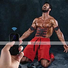 baratos Exercício e Fitness-Estimulador ABS Cinto de Tonificação Abdominal EMS Abs Trainer Esportes Silicone PU (Poliuretano) Resina ABS Exercício e Atividade Física Treino de Ginástica Smart Electrónico Muskelstimulator