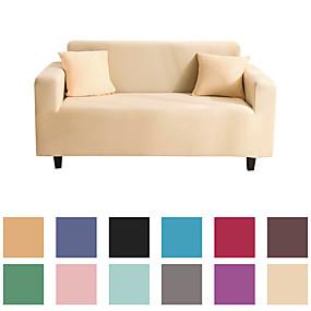 billige Tekstiler til hjemmet-grundlæggende ensfarvet støvtæt, kraftfuld glidebetræk stretch sofa dækning super blødt stof sofa dækning med en gratis pudebetræk