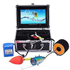 ieftine Microscop & Endoscop-portabil monitor de 7 inch lcd finder de pește impermeabil sub apă 1000tvl cameră de pescuit 15m cablu 12pcs ir infraroșu led pentru pescuit