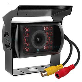 Недорогие Автоэлектроника-ziqiao 480tvl 720 x 480 ccd проводная 110-градусная камера заднего вида водонепроницаемая / Plug and Play / ночного видения для автобусов / грузовиков