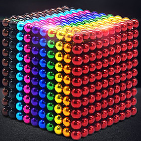 Недорогие Модели и игрушки-1000 pcs 3mm Магнитные игрушки Магнитные шарики Конструкторы Сильные магниты из редкоземельных металлов Неодимовый магнит Неодимовый магнит / Стресс и тревога помощи / Магнитный / 14 лет + / 14 лет +