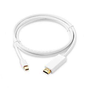 Недорогие DisplayPort-1,8 м мини-дисплей порт HDMI-кабель 4 К 1080 P мини-дп к HDMI кабели адаптер Thunderbolt HDMI конвертер для MacBook