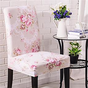 baratos Têxteis Para a Casa-Rosa flor impressão super macio capa de cadeira estiramento removível lavável protetor de cadeira de sala de jantar slipcovers decoração de casa sala de jantar tampa de assento