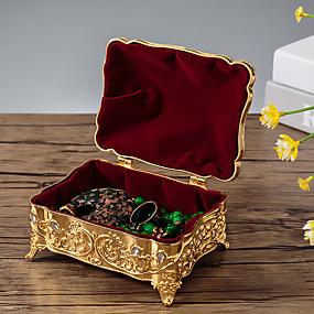 זול קופסת תכשיטים ותצוגה-אריזות תכשיטים - מוזהב, כסף 12 cm 9 cm 7.2 cm / בגדי ריקוד נשים