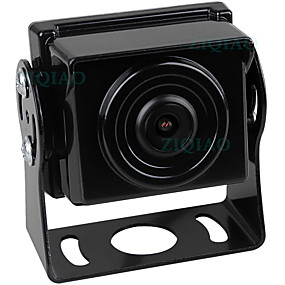 Недорогие Автоэлектроника-ziqiao 480tvl 1920 x 1080 ccd проводная 140-градусная камера заднего вида водонепроницаемая / АХД для автобуса / грузовика