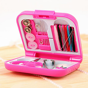 cheap Holiday & Party Decorations-Mini Travel Sewing Kit Full Set Thread Needles Scissor Tweezers Needle Kit Tool with Storage Box