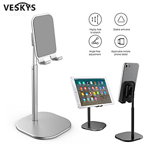 cheap Table Top-VESKYS Rotating tablet flexible phone holder for iphone Universal cell desktop stand for phone Tablet Stand mobile support table