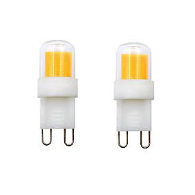povoljno LED svjetla s dvije iglice-2pcs 2 W LED svjetla s dvije iglice 400-450 lm G9 E12 1 LED zrnca COB Toplo bijelo Hladno bijelo