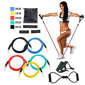 povoljno Oprema za sport i outdoor-Set traka otpora 12 pcs 5 zglobova za vježbanje koji se mogu stajati Sidro sidra Trake za gležnjeve nogu Sportski TPE Početna vježba Pilates Fitness Trening snage Trening mišićne tjelesne težine