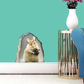 povoljno Ukrasne naljepnice-llittle miš zidne naljepnice ravni zidne naljepnice ukrasne zidne naljepnice pvc ukras za dom zid zid / prozorska dekoracija 12 * 12.5cm